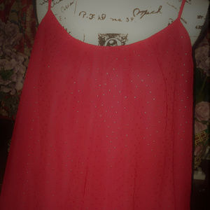 Lane Bryant Bright Red Cami With Rhinestone Front